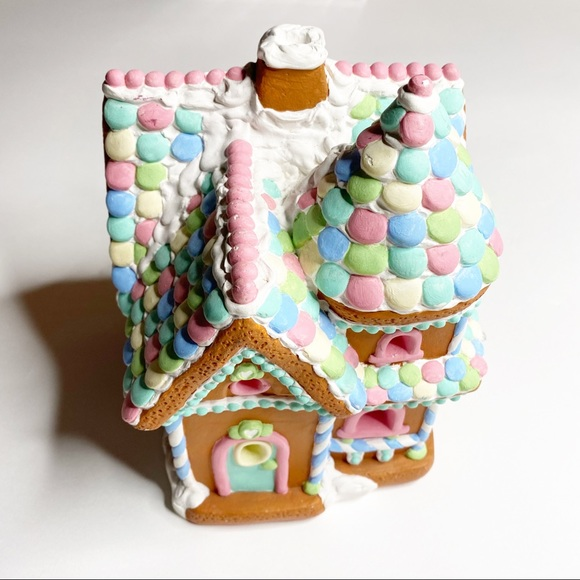 Vintage Gingerbread House Painted Christmas Decor